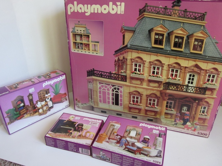 Playmobil victorian mansion doll house 5300 5320 5324 5351 for Classic house 1990