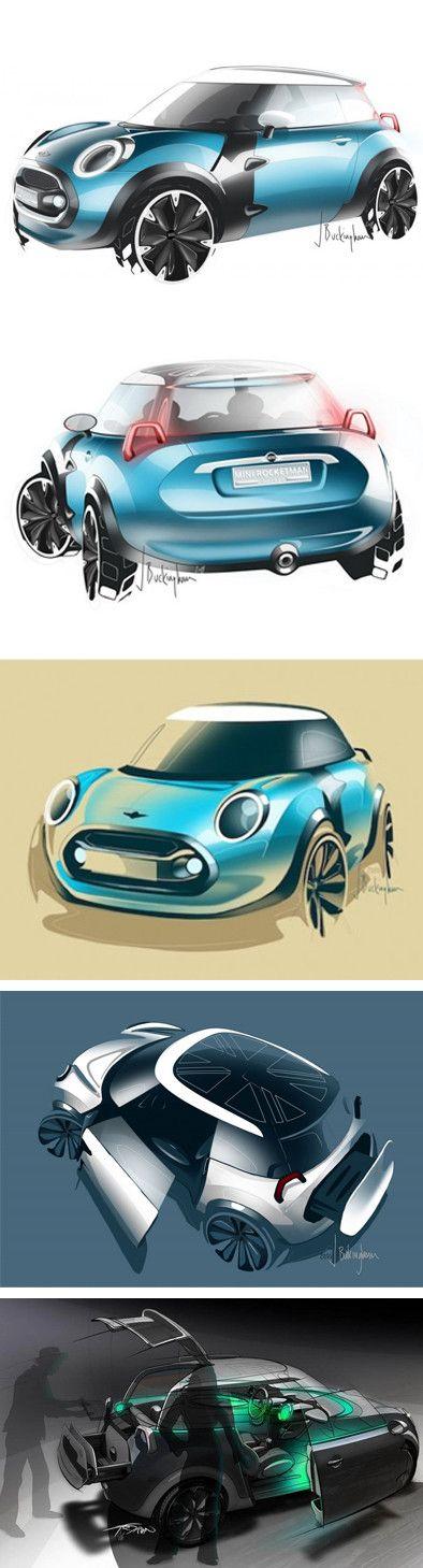 MINI ROCKETMAN Concept Car - Car Design & Concept Art | Vingle