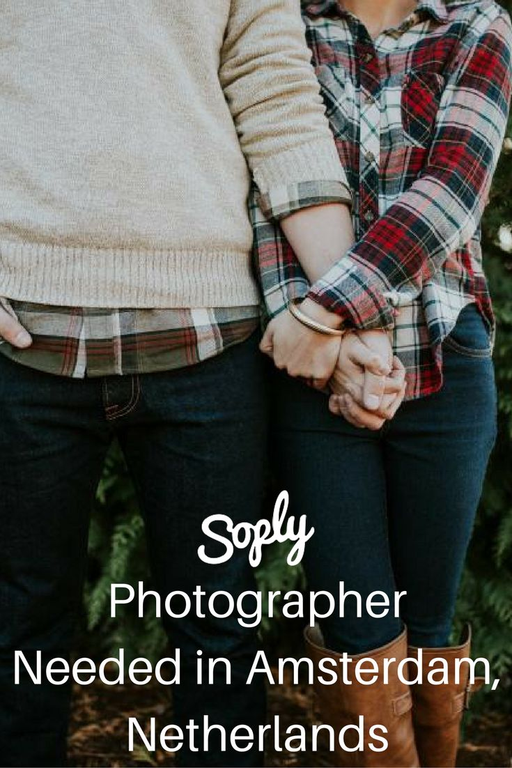 #Photographer needed for a #surprise #engagement in Amserdam, Netherlands. The #client will need you for about half an hour on December 28th. See the photography job and apply by clicking the pin!