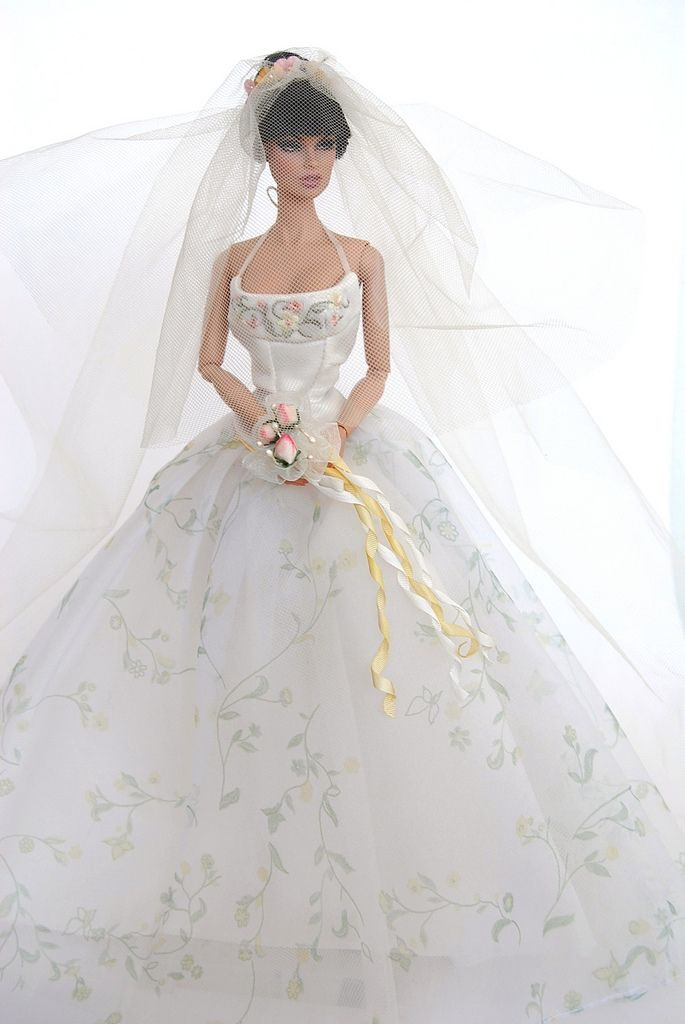 223 best dolls bridal images on pinterest beautiful for How to make a barbie wedding dress