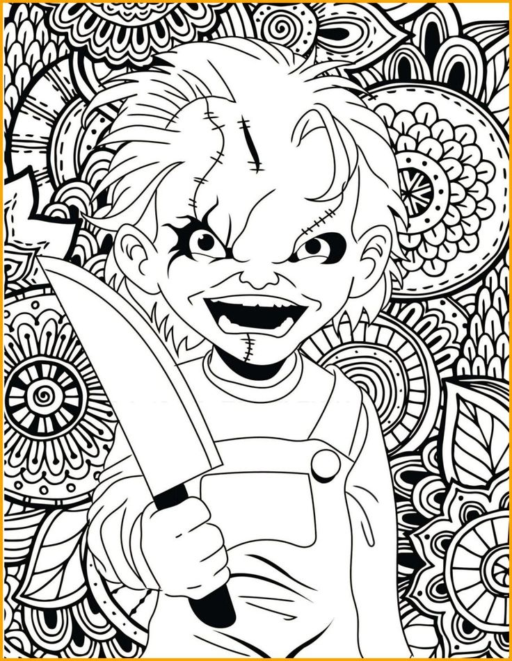 48++ Scary coloring pages to print inspirations