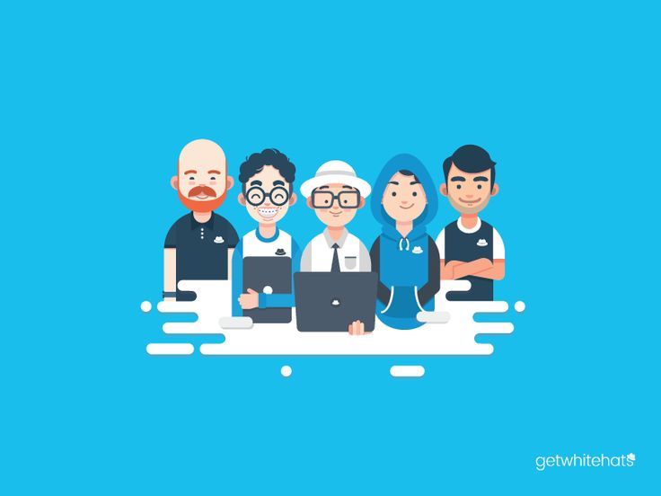 Dribbble - Whitehat Hackers by Bryan Gersalia