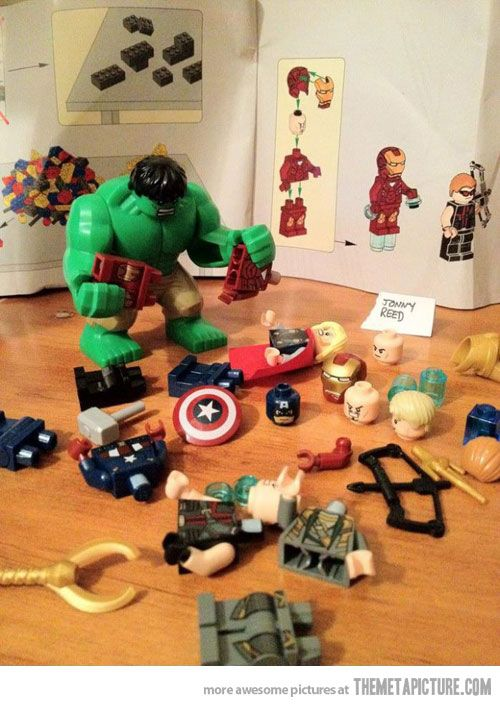 """""""Hulk attempting to """"Assemble the Avengers""""  HAAHAHAHAHHAHAAHHAHAHAHAHAAAAAA THIS IS MY FAVORITE"""