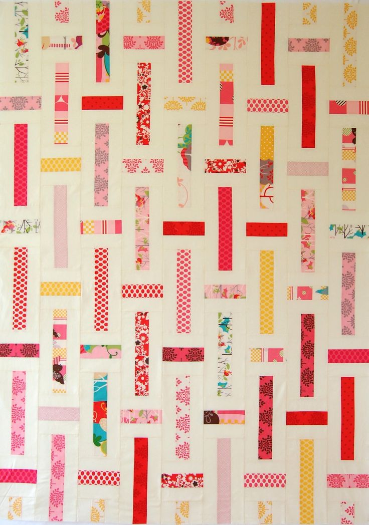 Free Quilt Patterns Using Jelly Roll Strips : Lawn Chair Quilts Moda Bake Shop. Potential use for left over jelly roll strips, or a