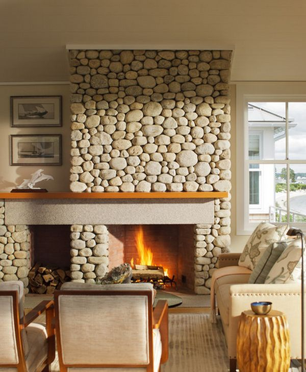 34 Beautiful Stone Fireplaces That Rock Beautiful Stone Fireplaces And The