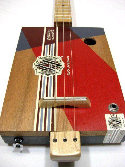 Avo Uvezian 3 String Cigar Box Guitar #1270