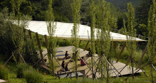 Yoga Spaces | In Sabina - Yoga Retreat  Nathalie from Alchemy £600 for yurt
