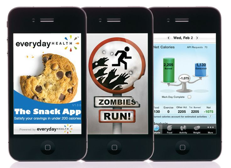 Three weight loss apps to help you get motivated. The Snack App, Zombies (Run!) and Calorie Counter