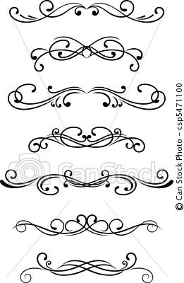Vector - Swirl elements - stock illustration, royalty free illustrations, stock clip art icon, stock clipart icons, logo, line art, EPS picture, pictures, graphic, graphics, drawing, drawings, vector image, artwork, EPS vector art