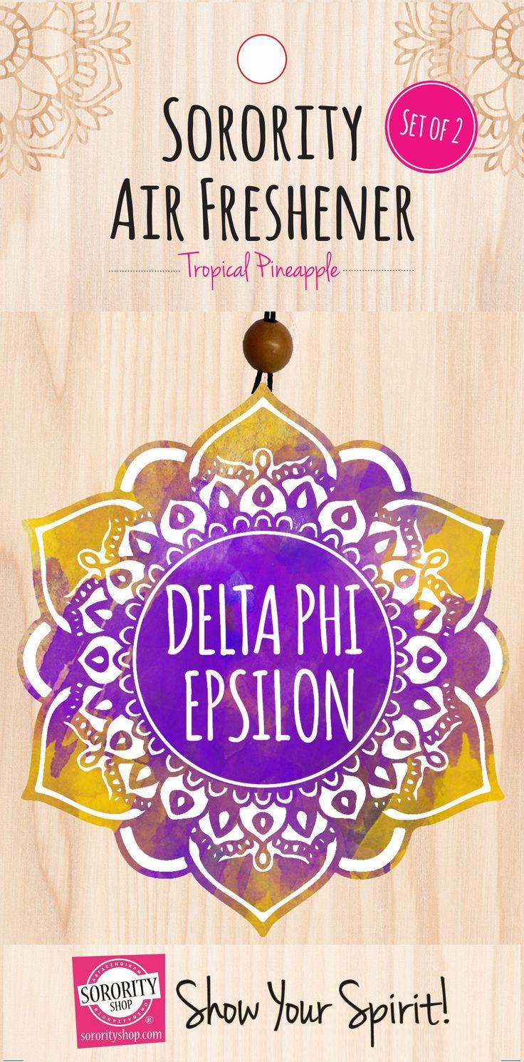Delta Phi Epsilon Mandala Air Freshener 2/Package