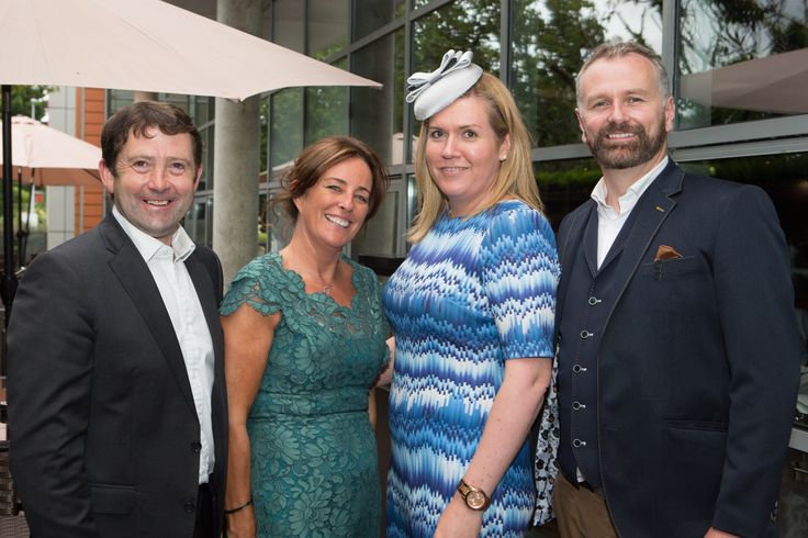 Dáithí Ó Sé and Barbara White of Horse Racing Ireland at the g Hotel & Spa on Ladies Day 2015 - Galway Races http://www.theghotel.ie/galway_races.html