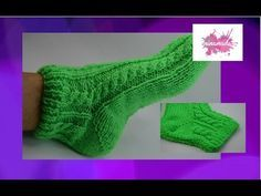 DIY. Tejer calcetines con dos agujas// Knitting socks with two needles. - YouTube