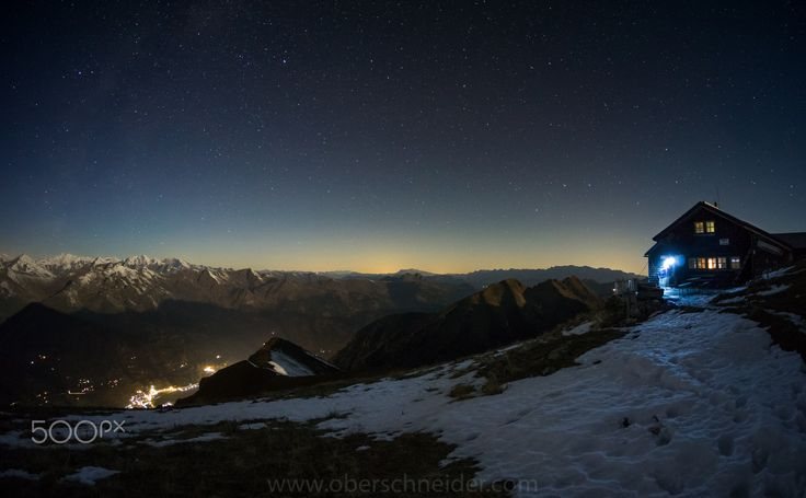 "Alpine Hut under the Stars - Long exposure night panorama on top of Gamskarkogel (2467m), Gastein, Austria.  Image available for licensing.  See more of my work here:  <a href=""http://www.oberschneider.com"">www.oberschneider.com</a>  Facebook: <a href=""http://www.facebook.com/Christoph.Oberschneider.Photography"">Christoph Oberschneider Photography</a> follow me on <a href=""http://instagram.com/coberschneider"">Instagram</a>"