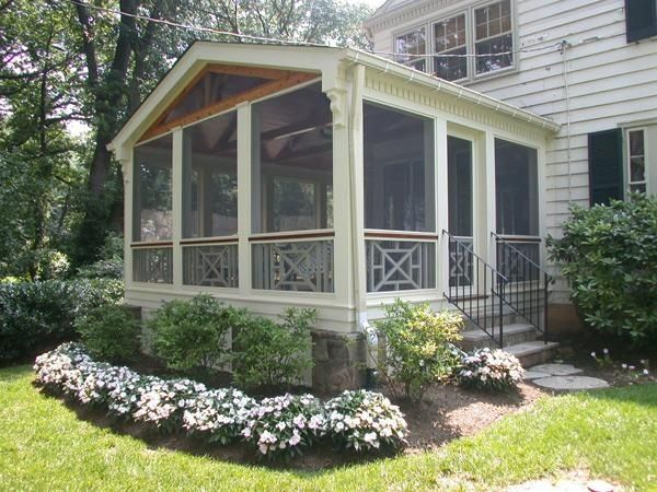 366 best images about screened porches front porches on for Screened in front porch