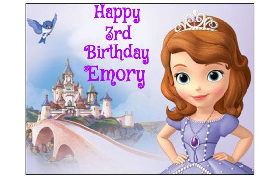 SOFIA the first EDIBLE image cake topper decoration party