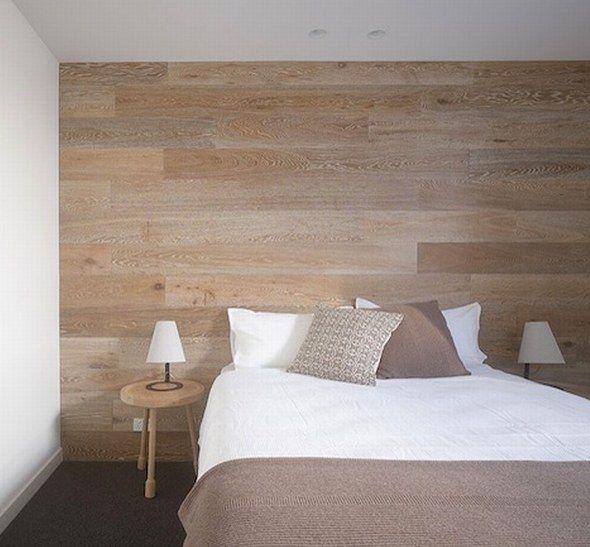 cabecera cama madera parquet