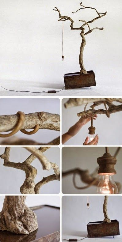 Beautiful DIY Wood Lamps And Chandeliers - Light is utterly important when it comes to interior design. #DIY #interiordesign