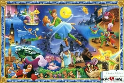 "Jigsaw Puzzles 1000 Pieces ""The world of Peter Pan"" / Disney / Tenyo / 1000-231"