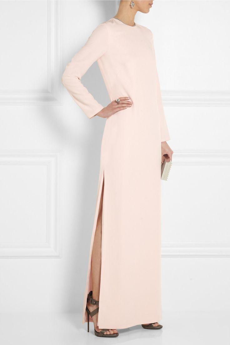 Adam Lippes|Embellished silk-crepe gown|NET-A-PORTER.COM Giuseppe Zanotti shoes