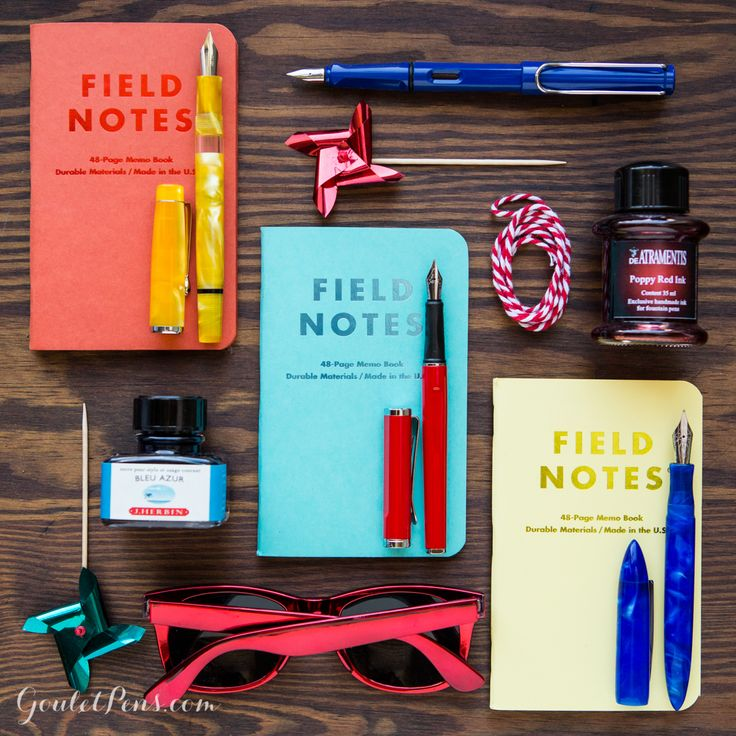 Fountain pens, ink, and notebooks in a curate collection! Read more Thursday Things: Carnival.