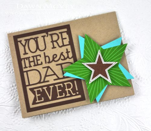 Best Dad Ever Card by Dawn McVey for Papertrey Ink (May ...
