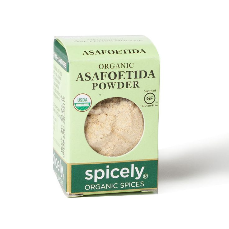 Asafoetida, or hing, is a spice commonly used in South Indian cuisine. It imparts a distinct odor, but once cooked, gives your food a garlic essence, and is oft