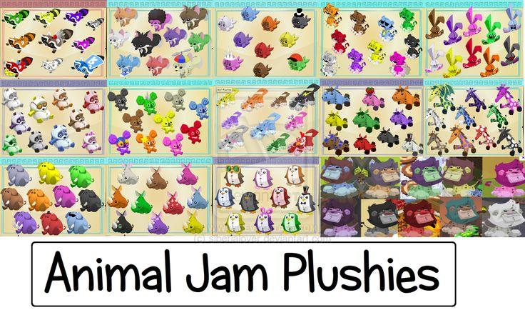 Animal Jam plushies by siberialover on deviantART