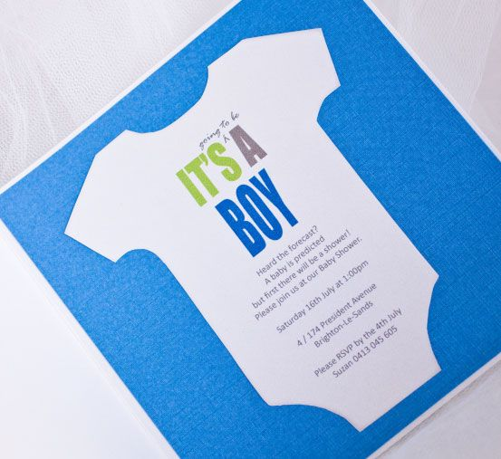 Baby Shower Invitation, its a boy