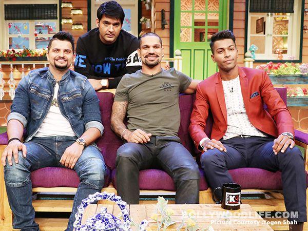 The Kapil Sharma Show: Suresh Raina, Hardik Pandya, Shikhar Dhawan team up for some laughs after battling out against each… #FansnStars