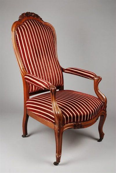 1850 Neo Rococo Armchair Culture Dutch Medium Wood