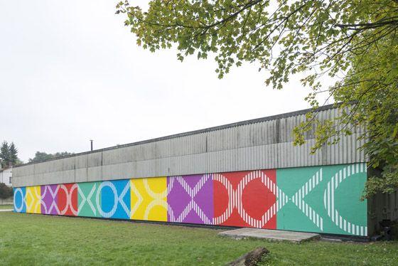 Daniel Buren, permanent work in situ, Galleria Continua Les Moulins.