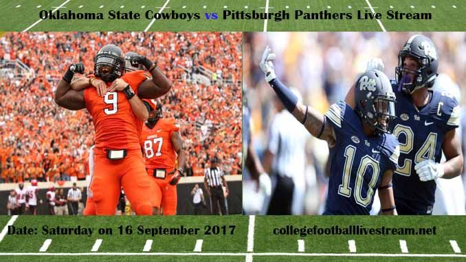 Oklahoma State Cowboys vs Pittsburgh Panthers Live Stream Teams: Cowboys vs Panthers Time: 12:00 PM ET Week-3 Date: Saturday on 16 September 2017 Location: Heinz Field, Pittsburgh, PA TV: ESPN NETWORK Oklahoma State Cowboys vs Pittsburgh Panthers Live Stream Watch College Football Live Streaming...