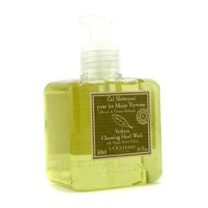 L'Occitane Verbena Harvest Cleansing Hand Wash - 300ml/10.1oz by L'Occitane. $26.38. 300ml/10.1oz. Formulated with a vegetal soap base & wheat proteins Gently cleanses skin without drying out moisture Leaves hands delicately scented with sparkling lemony aroma of verbena Pump dispenser design is perfect for kitchen or bathroom - L'Occitane - Body Care. Save 11%!