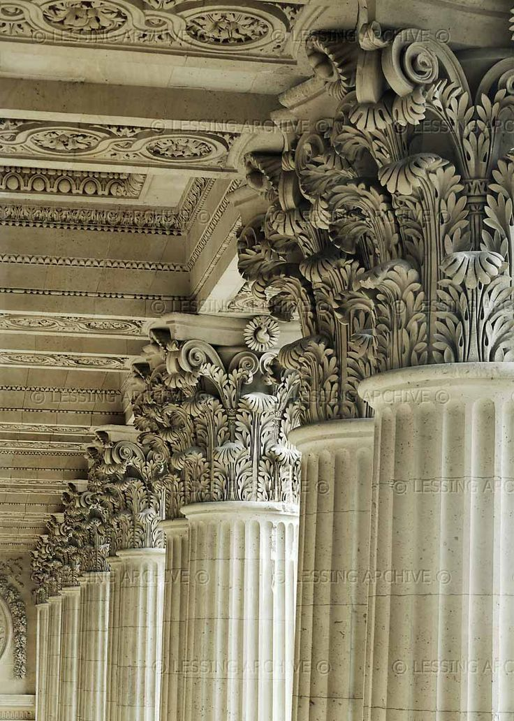 ...And our daughters will be like pillars carved to adorn a place. Ps. 144 Louvre Colonnade (1668), Paris, France