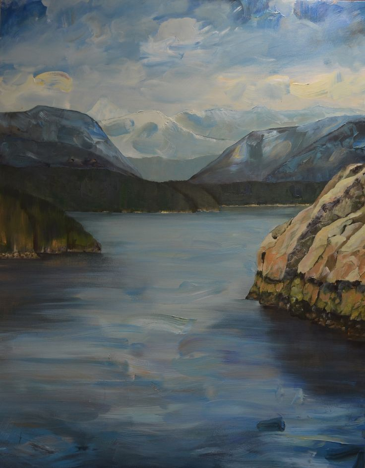 View to Howe Sound.  60 x 48 inches.  Acrylic on canvas.  sold.