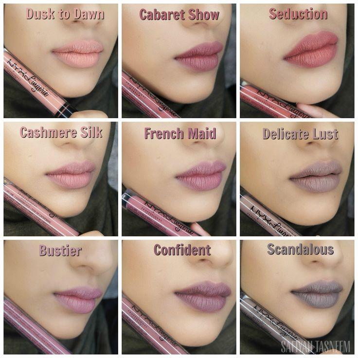 SAFIYAH TASNEEM : Sunday Swatches: NYX Lip Lingerie - 12 New Shades!