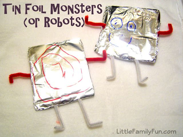 Little Family Fun: Tin Foil Monsters