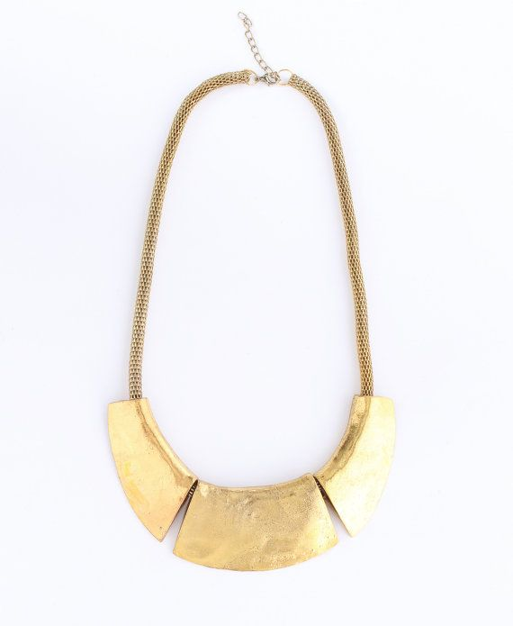 Hey, I found this really awesome Etsy listing at https://www.etsy.com/listing/118642521/gold-statement-necklace-golden-bib