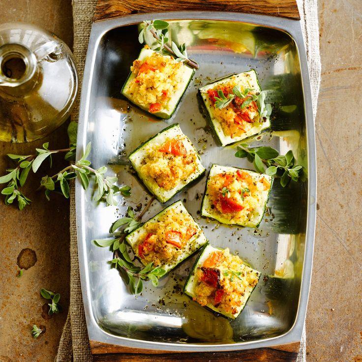 Découvrez la recette Courgette farcie végétarienne sur cuisineactuelle.fr.