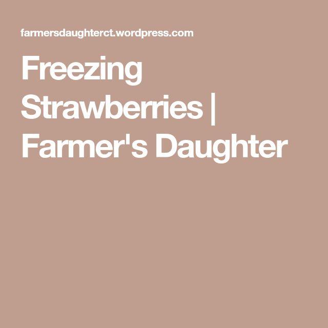 Freezing Strawberries | Farmer's Daughter