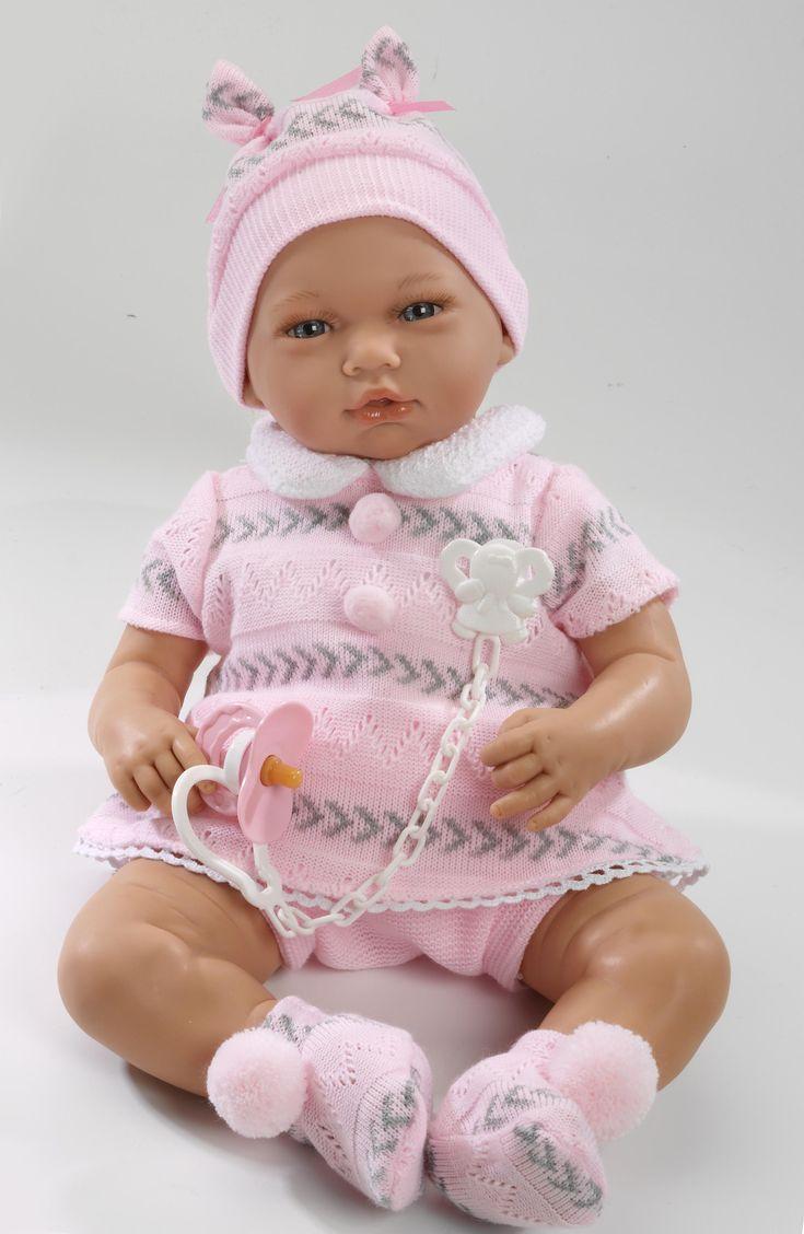 Realistické miminko - holčička Nadia v růžové soupravičce od firmy Guca