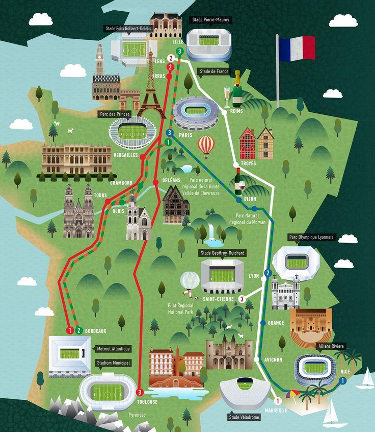 "Consulta este proyecto Behance ""Euro 2016 Road Trip"