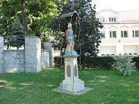 Mój Powiat Tarnowski: Pomnik św. Floriana w Żabnie (stary)