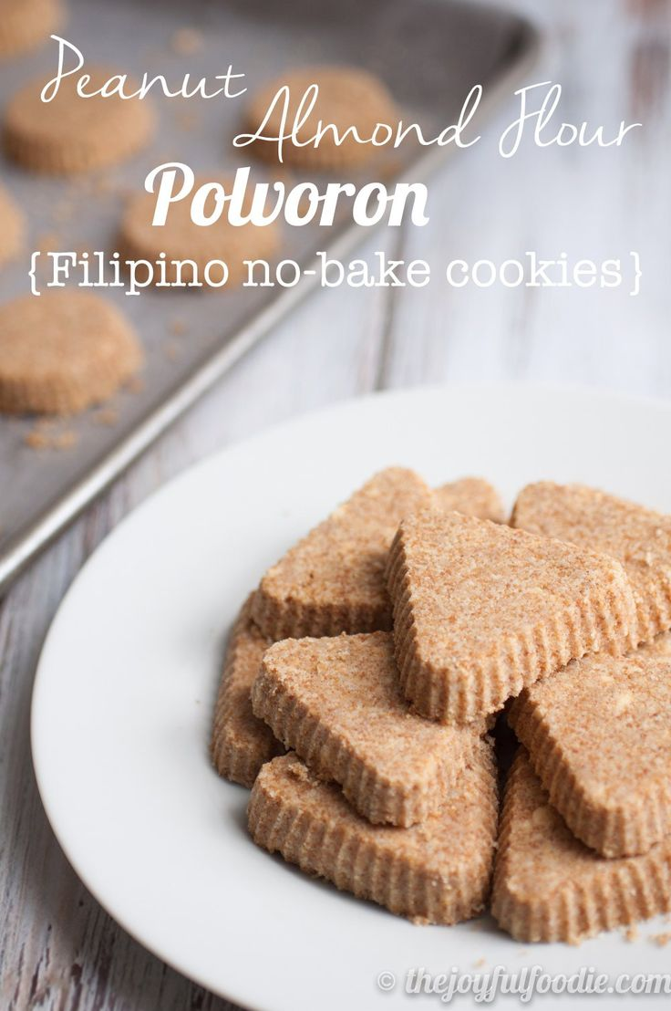 These No Bake Cookies Are Deliciously Buttery And Sandy Grain Free Gluten Free And Refined Sugar Free They D Mak Polvorones Recipe Polvorones Asian Desserts