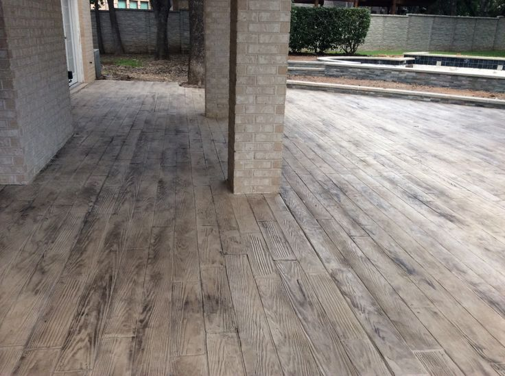 17 best images about new floors on pinterest wood for Hardwood floor concrete stamp