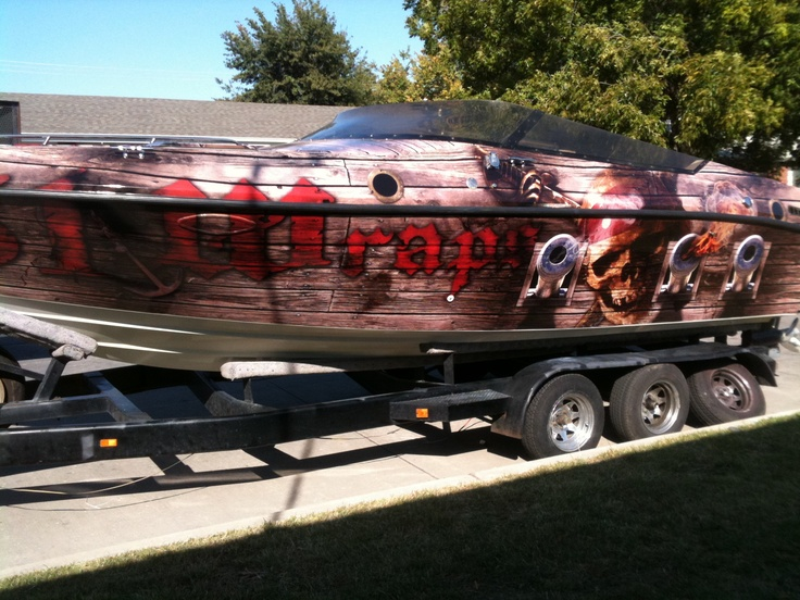 Pirate Ship Boat Wrap By Wraps Boat Wraps Pinterest Boat Wraps - Boat decalsamerican flag boat decals usa flag boat graphics xtreme digital