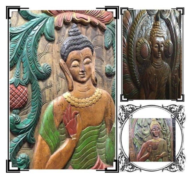 Meditation Buddha Wall Panel by baydeals on Polyvore featuring wallart, walldecor, wallhanging and wallpanel  http://stores.ebay.com/mogulgallery/CARVED-DOORS-/_i.html?_fsub=353415319&_sid=3781319&_trksid=p4634.c0.m322