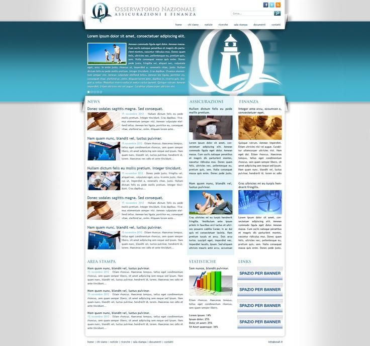 Osservatorio Nazionale Assicurazioni e Finanza: Web designer