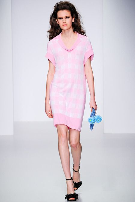 More pink, also keep your eye out for gingham pieces, wearable for winter and summer #LFW #MaxMyStyle Sister by Sibling Spring 2014 Ready-to-Wear Collection Slideshow on Style.com
