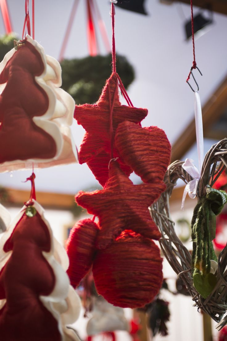 Rosso come l'amore #natalefelice #decorazioni #handmade